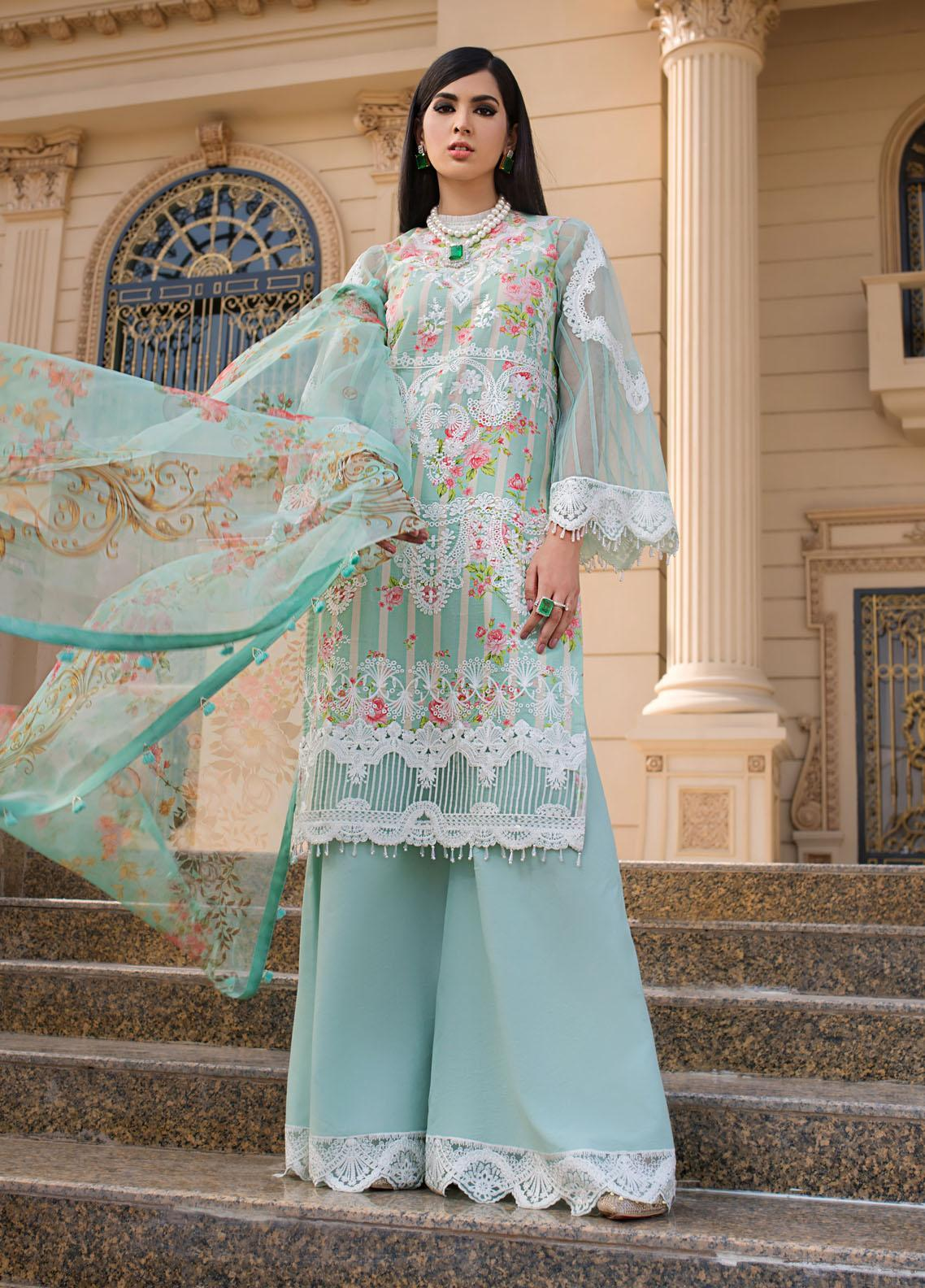 Reign Embroidered Lawn Suits Unstitched 3 Piece RGN21RG KEHLANI - Summer Collection