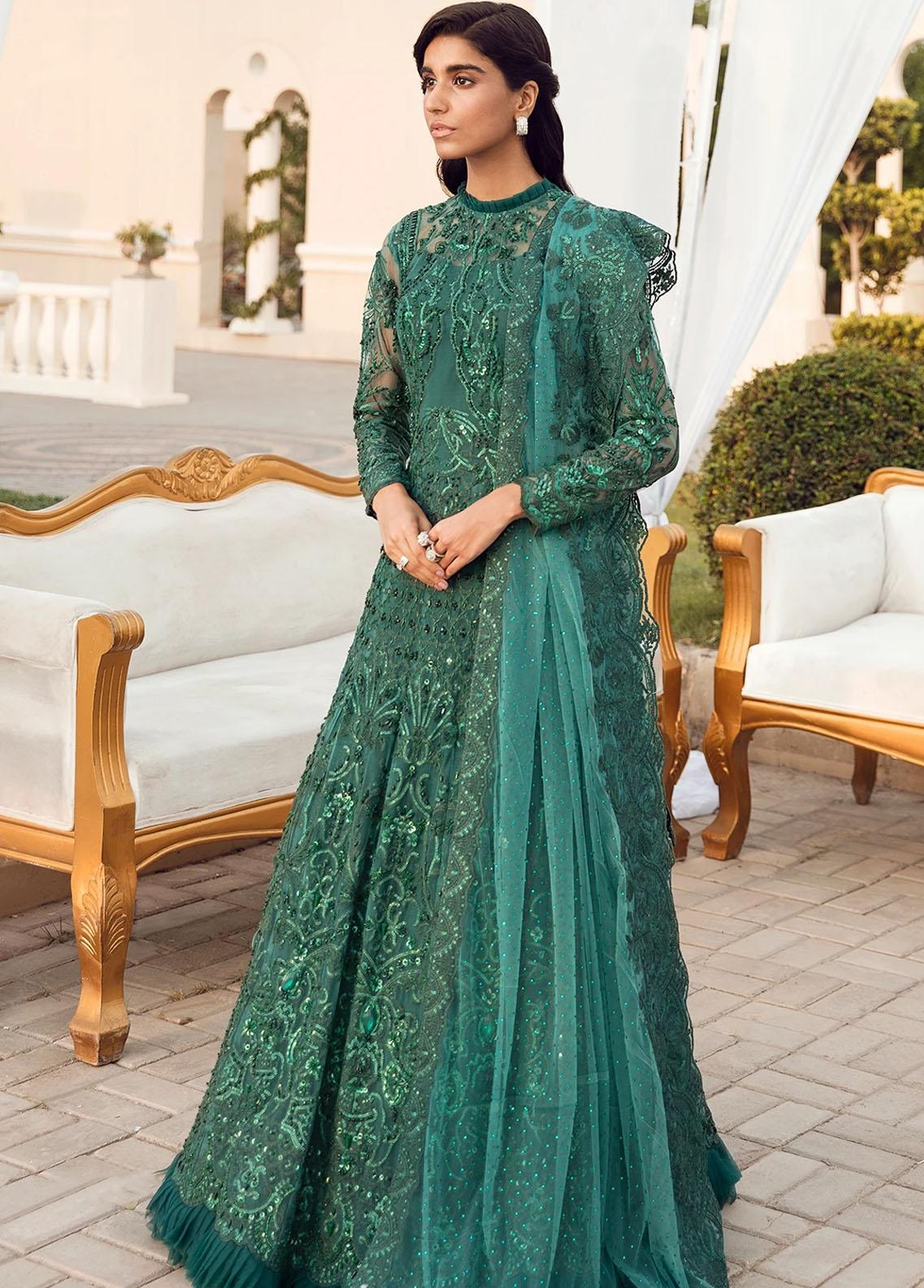 Reignaissance By Reign Embroidered Net Suits Unstitched 3 Piece RGN21WD Zoe - Wedding Collection