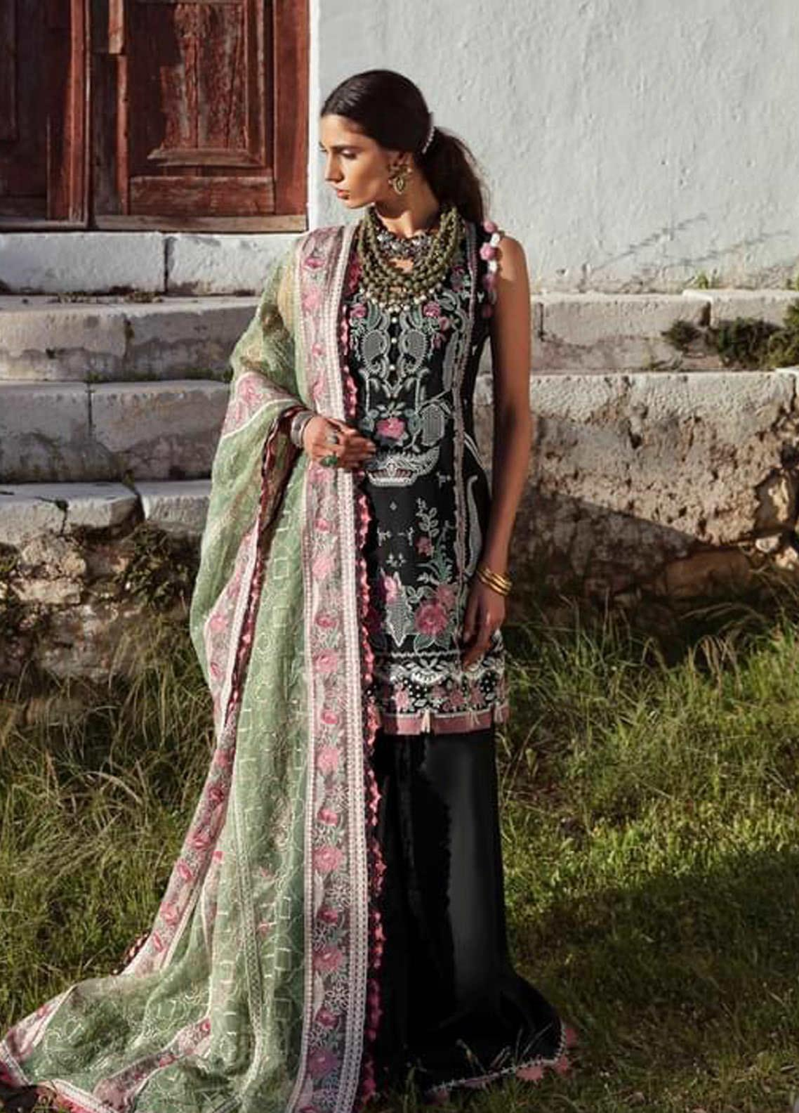 Selene By Republic WomensWear Embroidered Lawn Suits Unstitched 3 Piece RW21S Aydin A - Luxury Collection