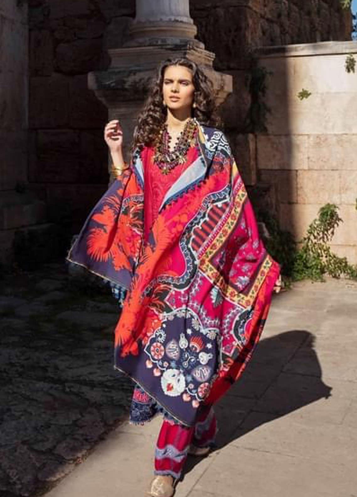 Selene By Republic WomensWear Embroidered Lawn Suits Unstitched 3 Piece RW21S Emel B - Luxury Collection