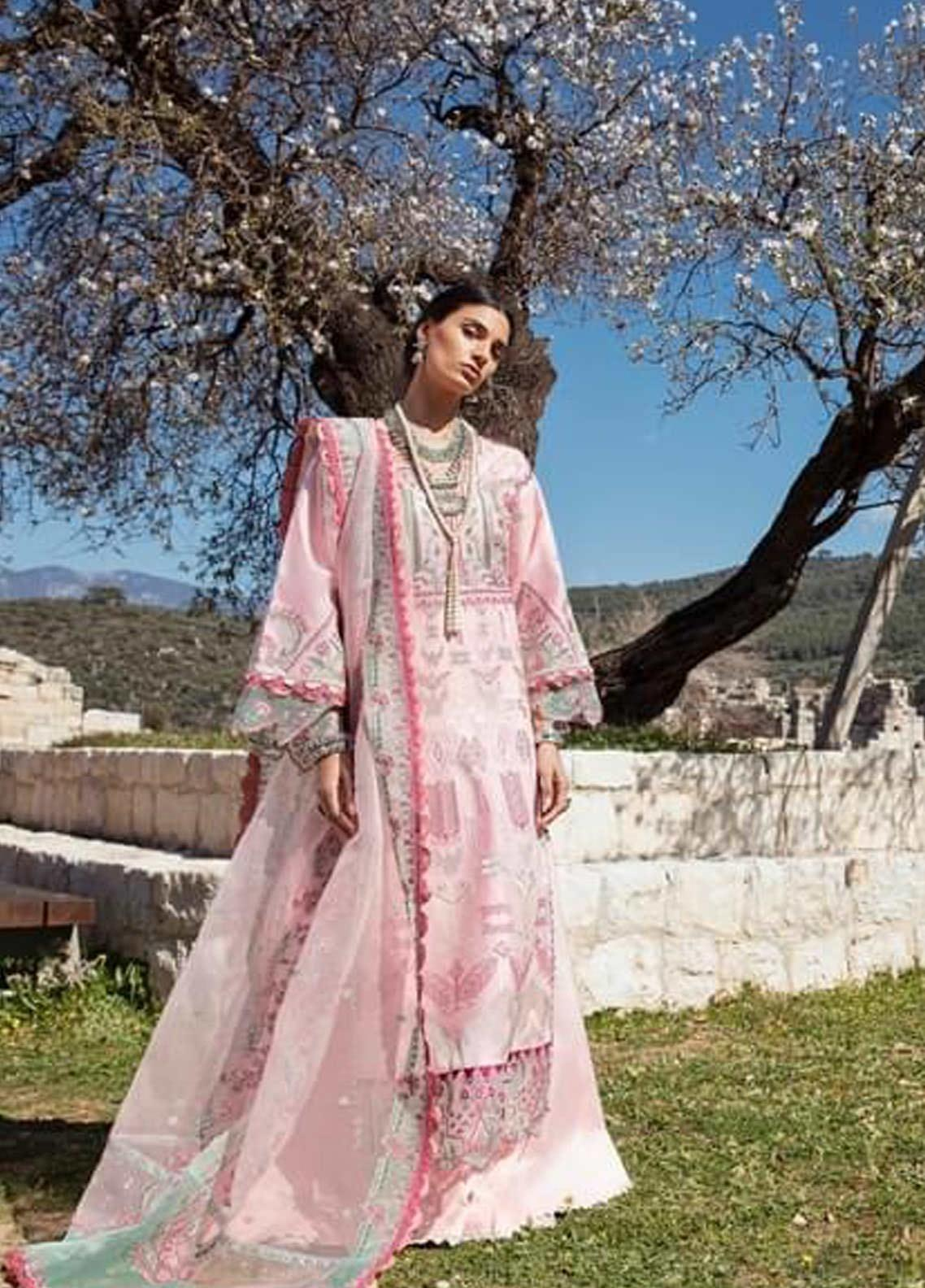Selene By Republic WomensWear Embroidered Lawn Suits Unstitched 3 Piece RW21S Mahra B - Luxury Collection