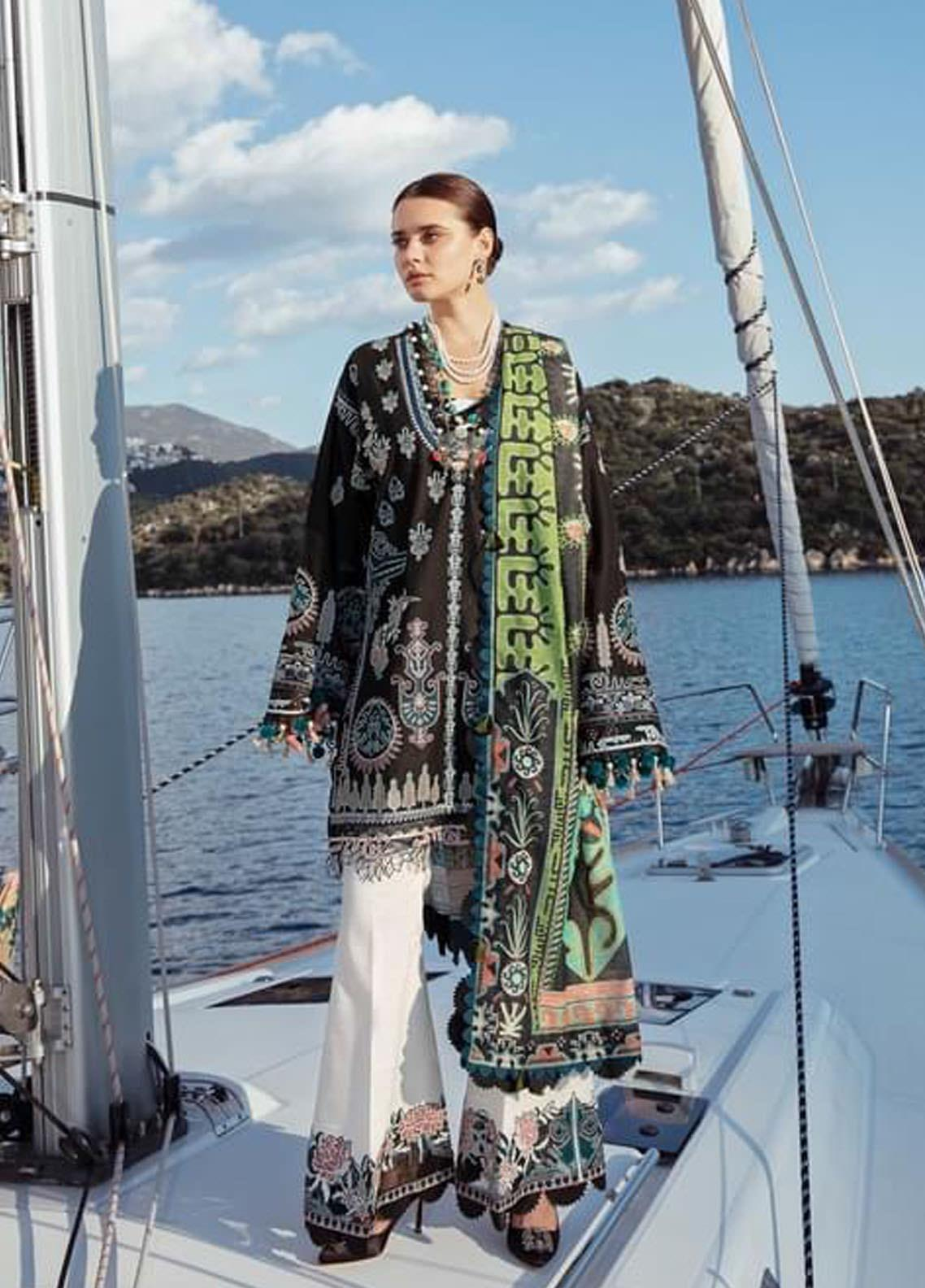 Selene By Republic WomensWear Embroidered Lawn Suits Unstitched 3 Piece RW21S Mayra A - Luxury Collection