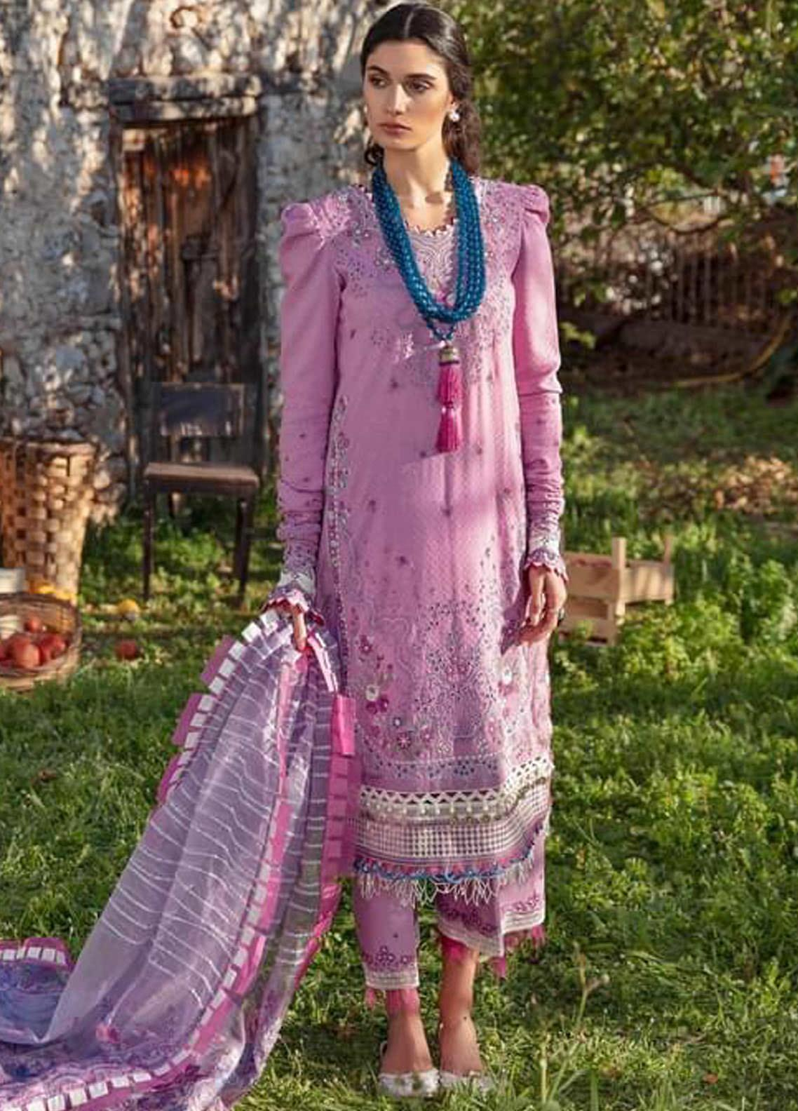Selene By Republic WomensWear Embroidered Lawn Suits Unstitched 3 Piece RW21S Rinaz B - Luxury Collection