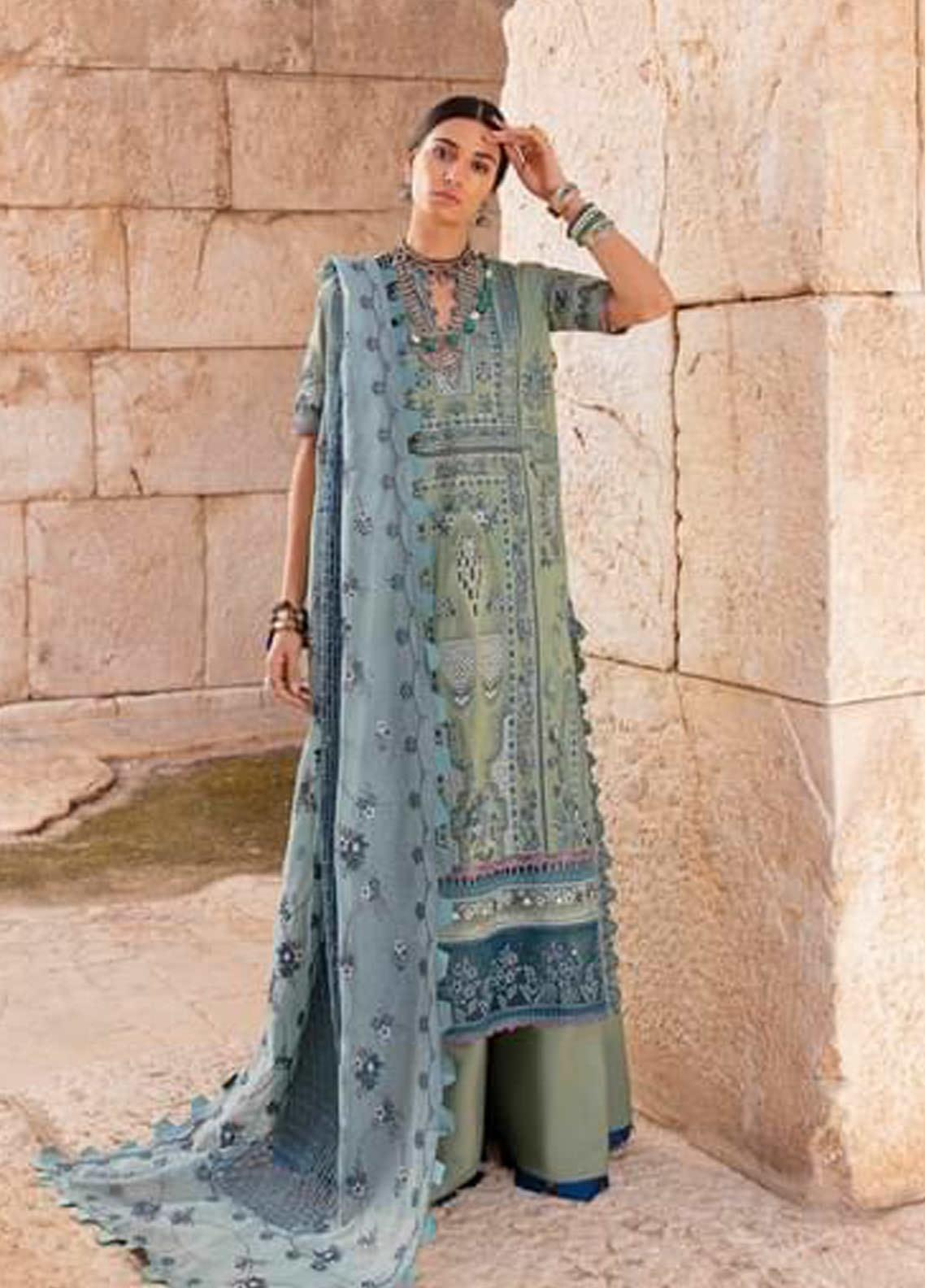 Selene By Republic WomensWear Embroidered Lawn Suits Unstitched 3 Piece RW21S Shahwar B - Luxury Collection