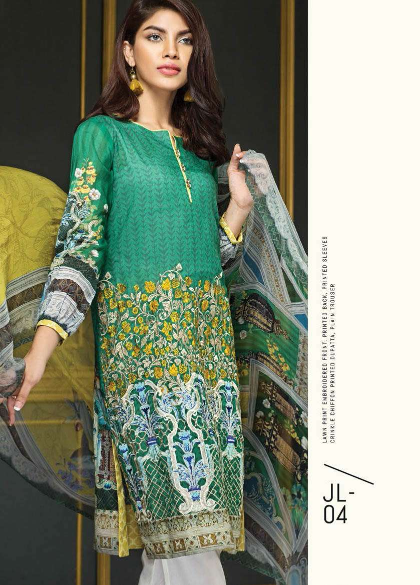 Resham Ghar Embroidered Lawn Unstitched 3 Piece Suit RG17E2 04