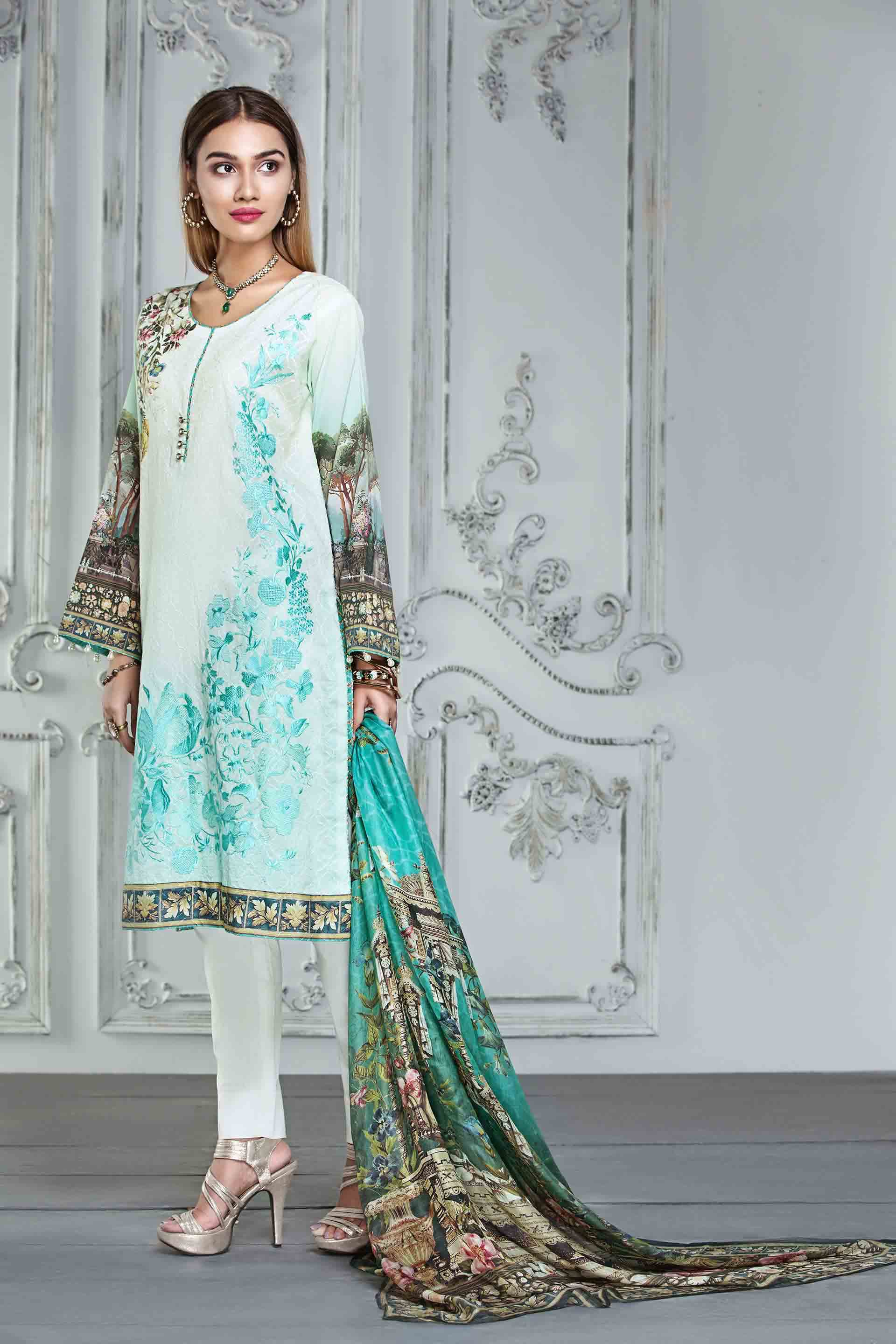 Resham Ghar Embroidered Lawn Unstitched 3 Piece Suit RG17E 01