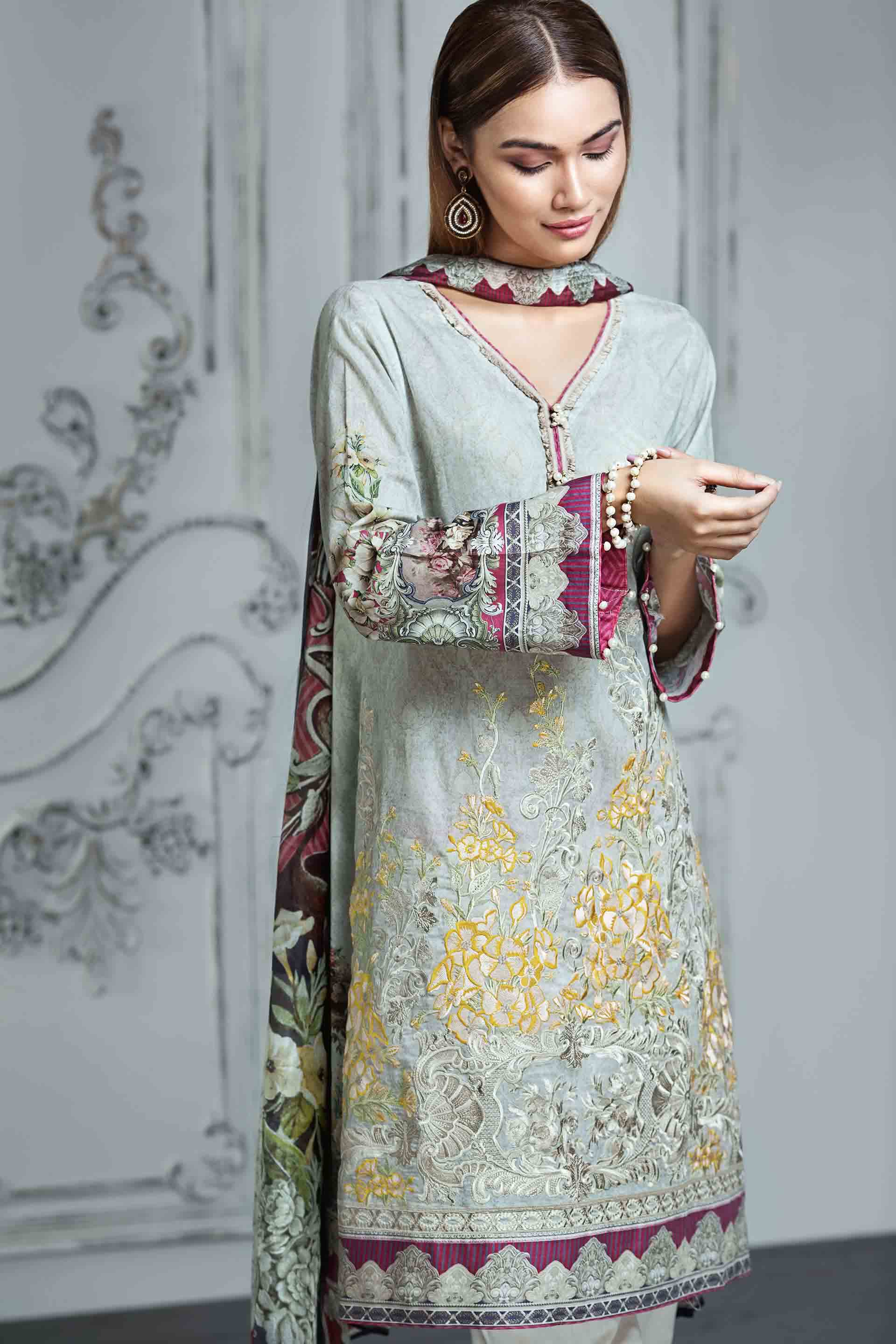 Resham Ghar Embroidered Lawn Unstitched 3 Piece Suit RG17E 02