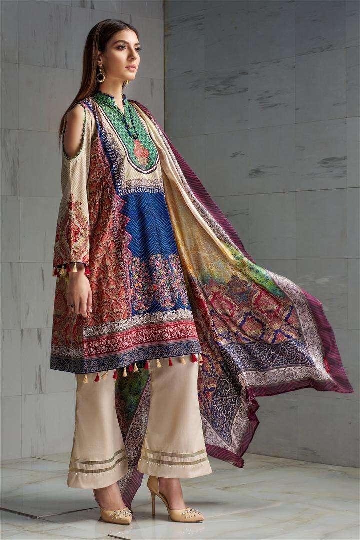 Resham Ghar Embroidered Lawn Unstitched 3 Piece Suit RG17L 07