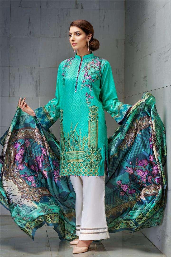 Resham Ghar Embroidered Lawn Unstitched 3 Piece Suit RG17L 08