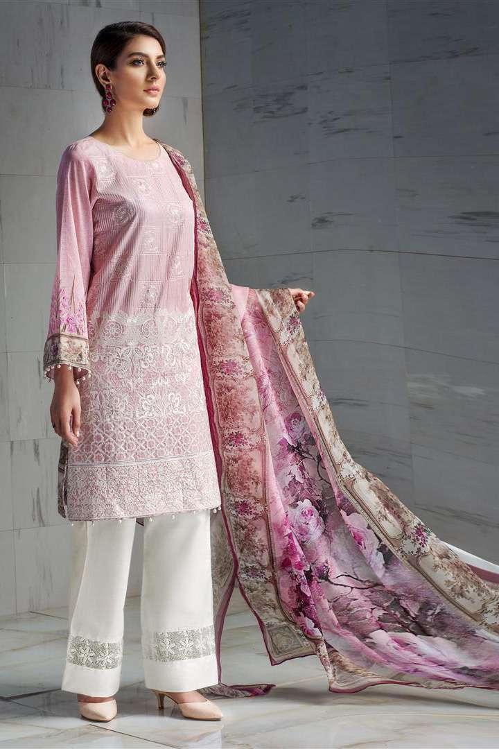 Resham Ghar Embroidered Lawn Unstitched 3 Piece Suit RG17L 5A