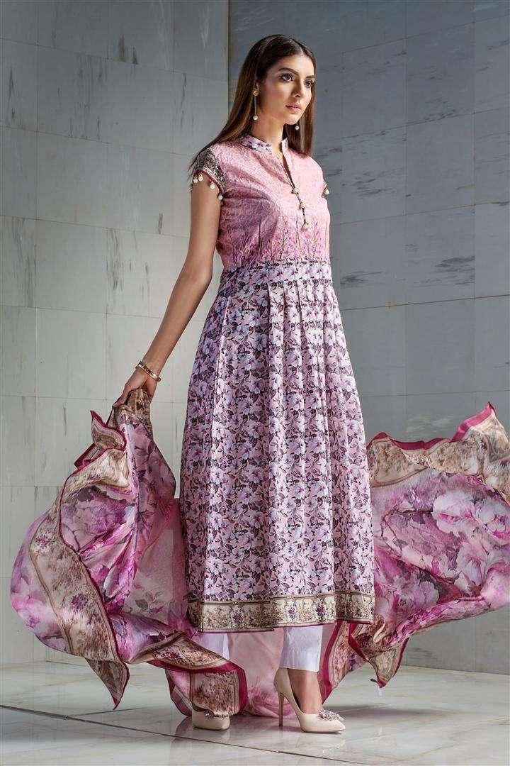 Resham Ghar Embroidered Lawn Unstitched 3 Piece Suit RG17L 5B