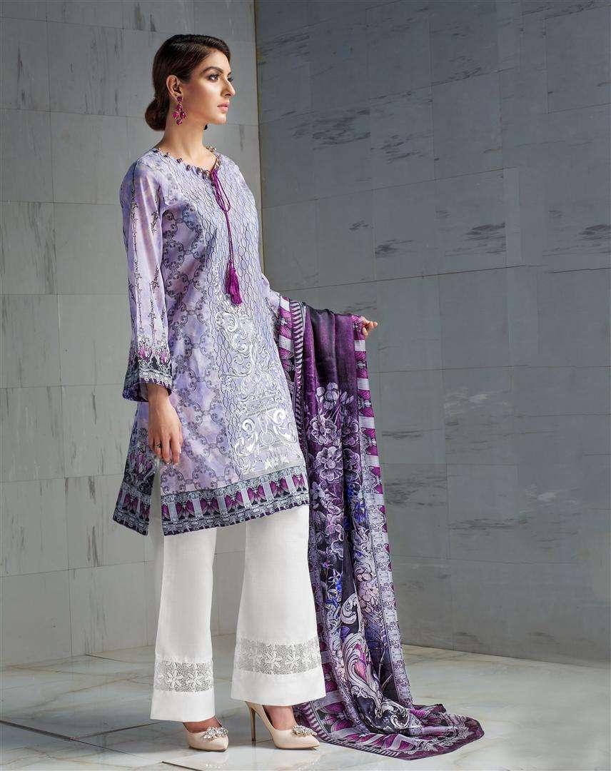 Resham Ghar Embroidered Lawn Unstitched 3 Piece Suit RG17L 9B