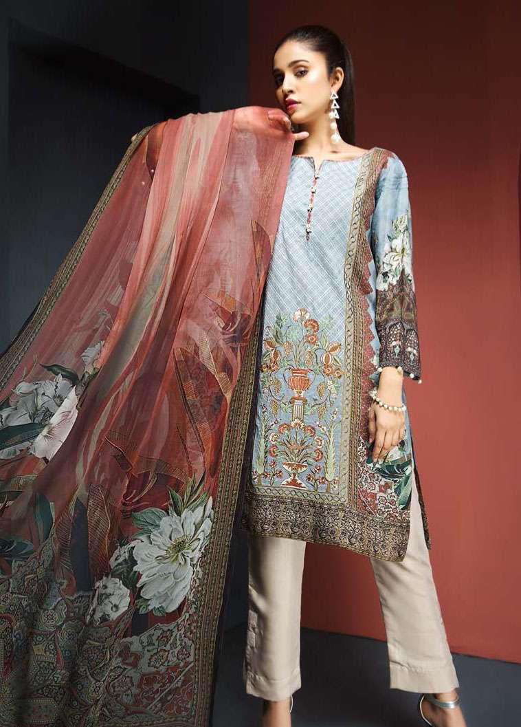 Resham Ghar Embroidered Viscose Unstitched 3 Piece Suit RG17W 09