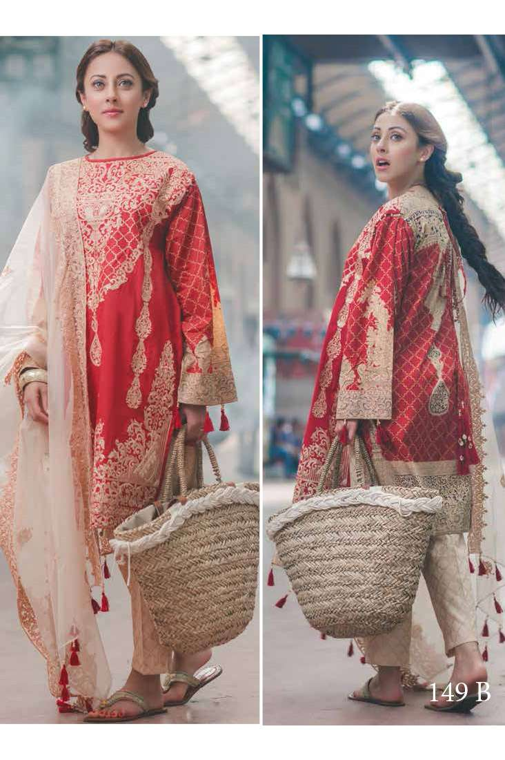 Rang Rasiya Embroidered Lawn Unstitched 3 Piece Suit RGR17C 149B