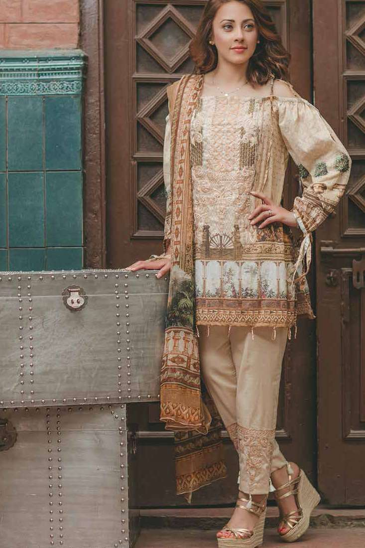 Rang Rasiya Embroidered Lawn Unstitched 3 Piece Suit RGR17C 152A