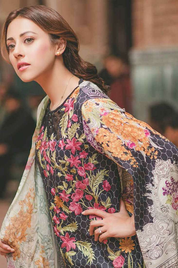 Rang Rasiya Embroidered Lawn Unstitched 3 Piece Suit RGR17C 154A