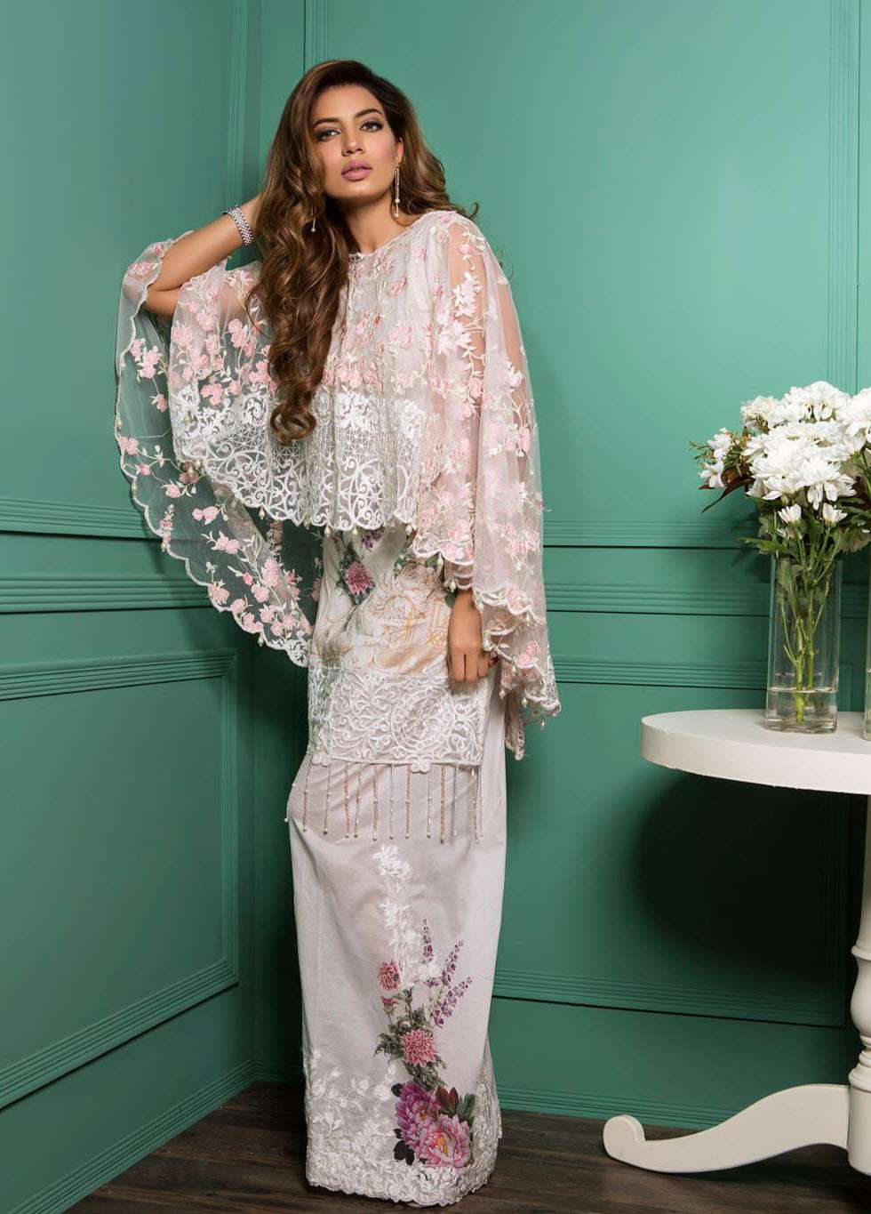 Rang Rasiya Embroidered Lawn Unstitched 3 Piece Suit RGR17E3 Oriental Blossoms A