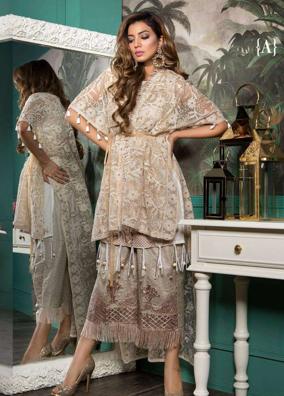 Rang Rasiya Embroidered Lawn Unstitched 3 Piece Suit RGR17E3 Rogogo Luxe A