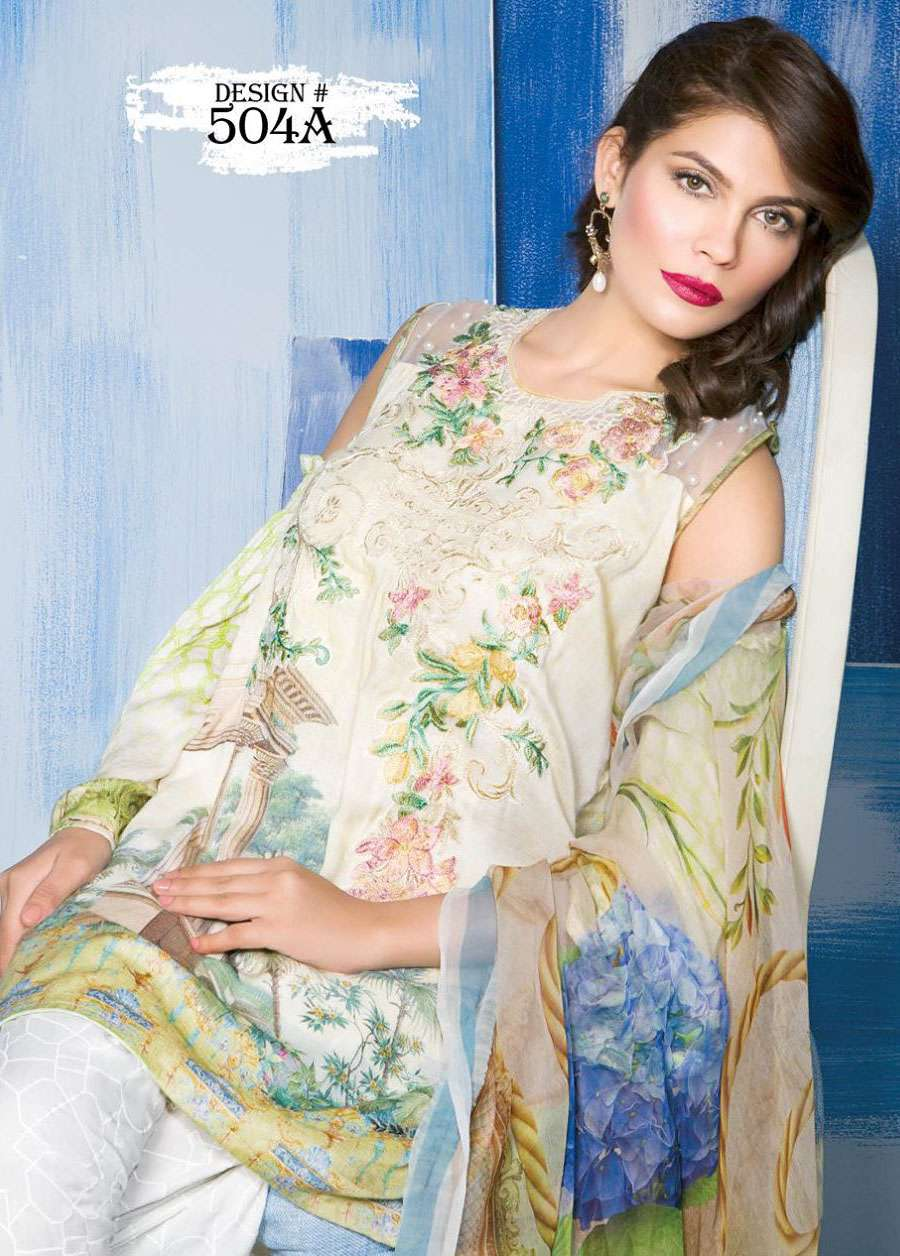 Rang Rasiya Embroidered Linen Unstitched 3 Piece Suit RGR17W 504A