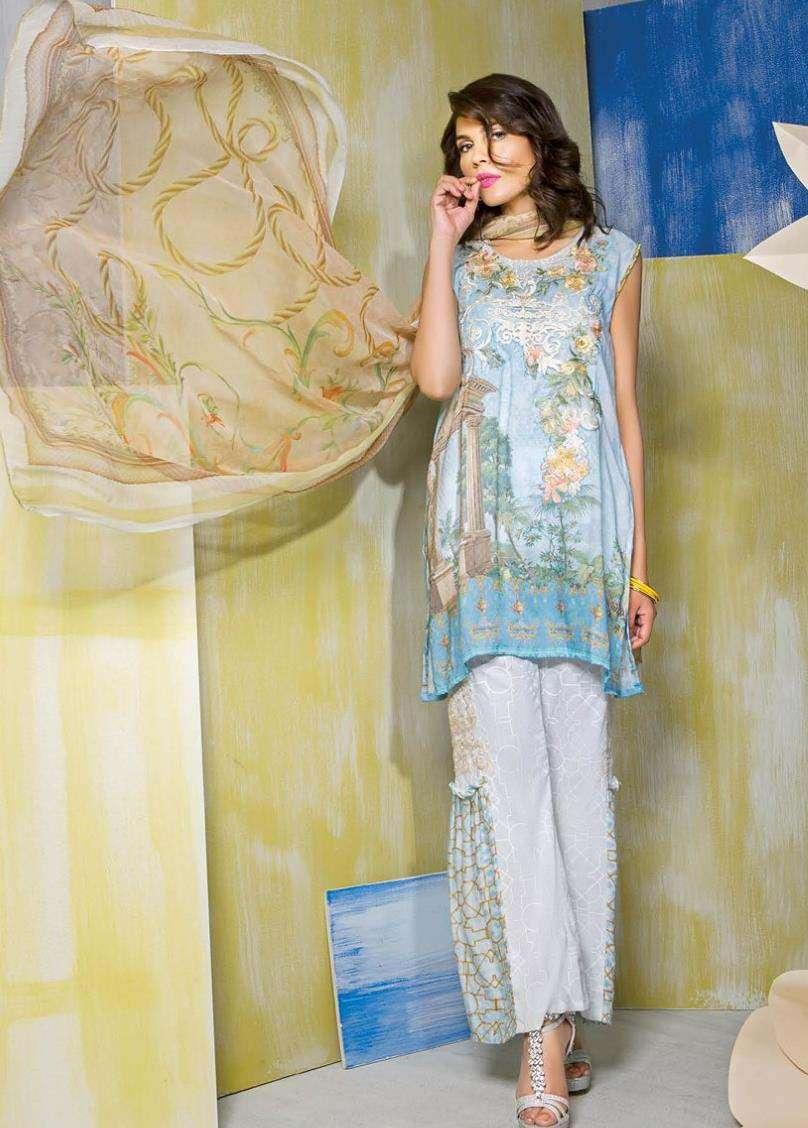 Rang Rasiya Embroidered Linen Unstitched 3 Piece Suit RGR17W 504B