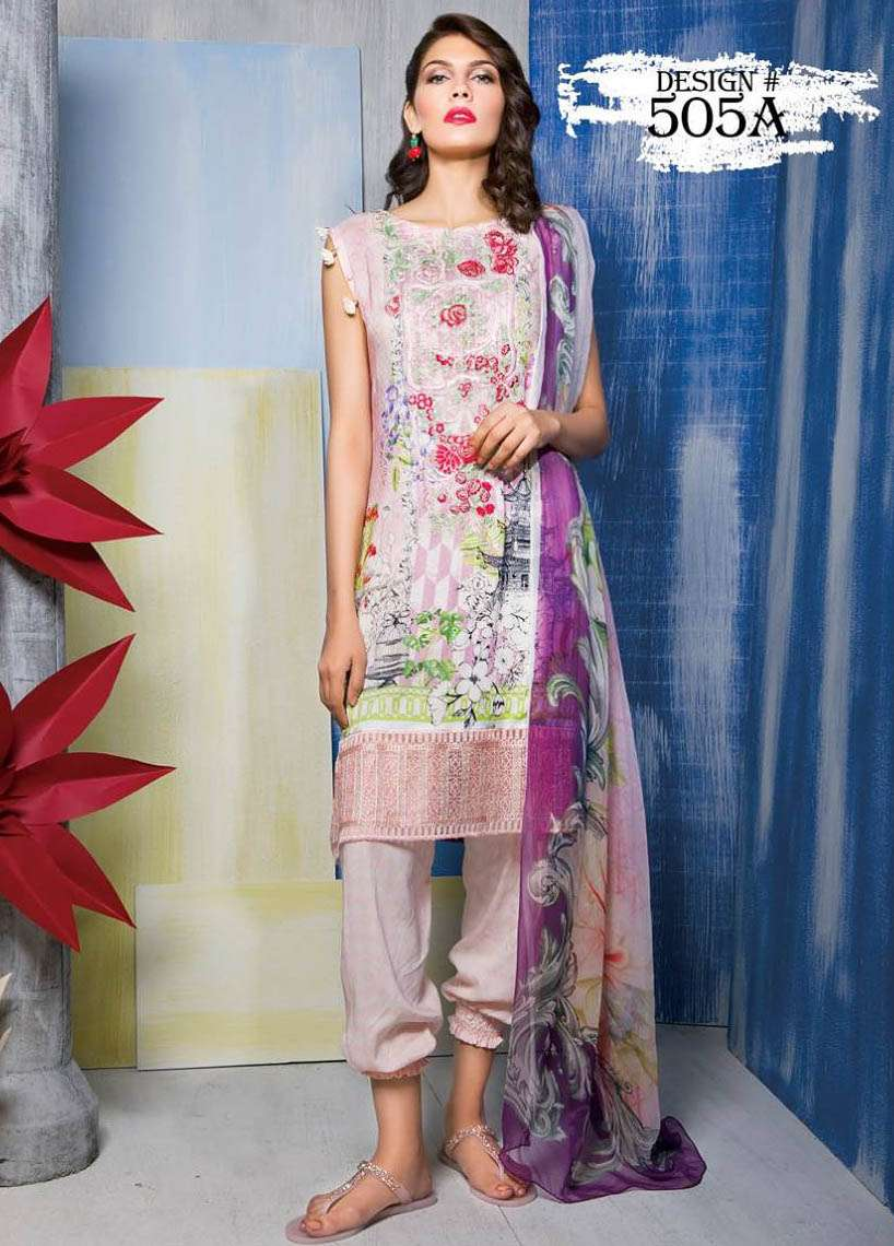 Rang Rasiya Embroidered Linen Unstitched 3 Piece Suit RGR17W 505A