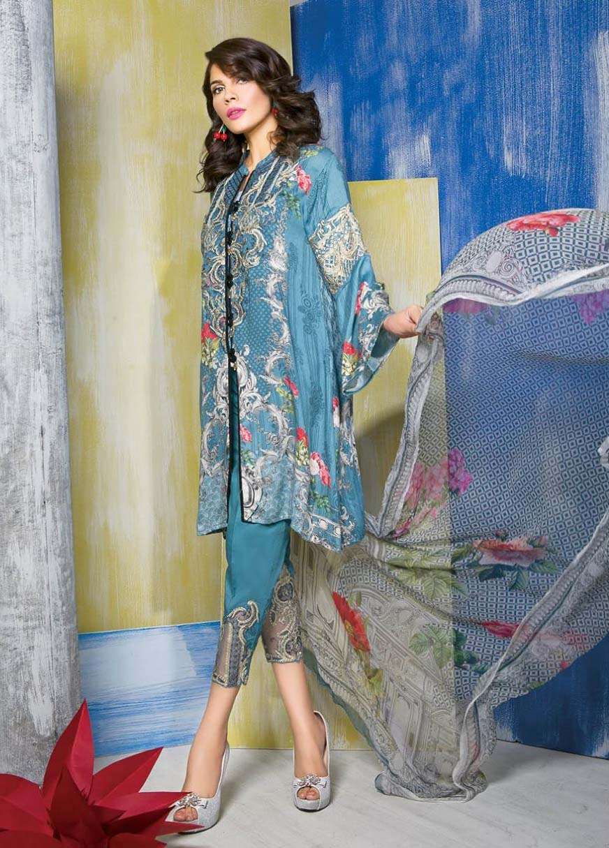 Rang Rasiya Embroidered Linen Unstitched 3 Piece Suit RGR17W 507B