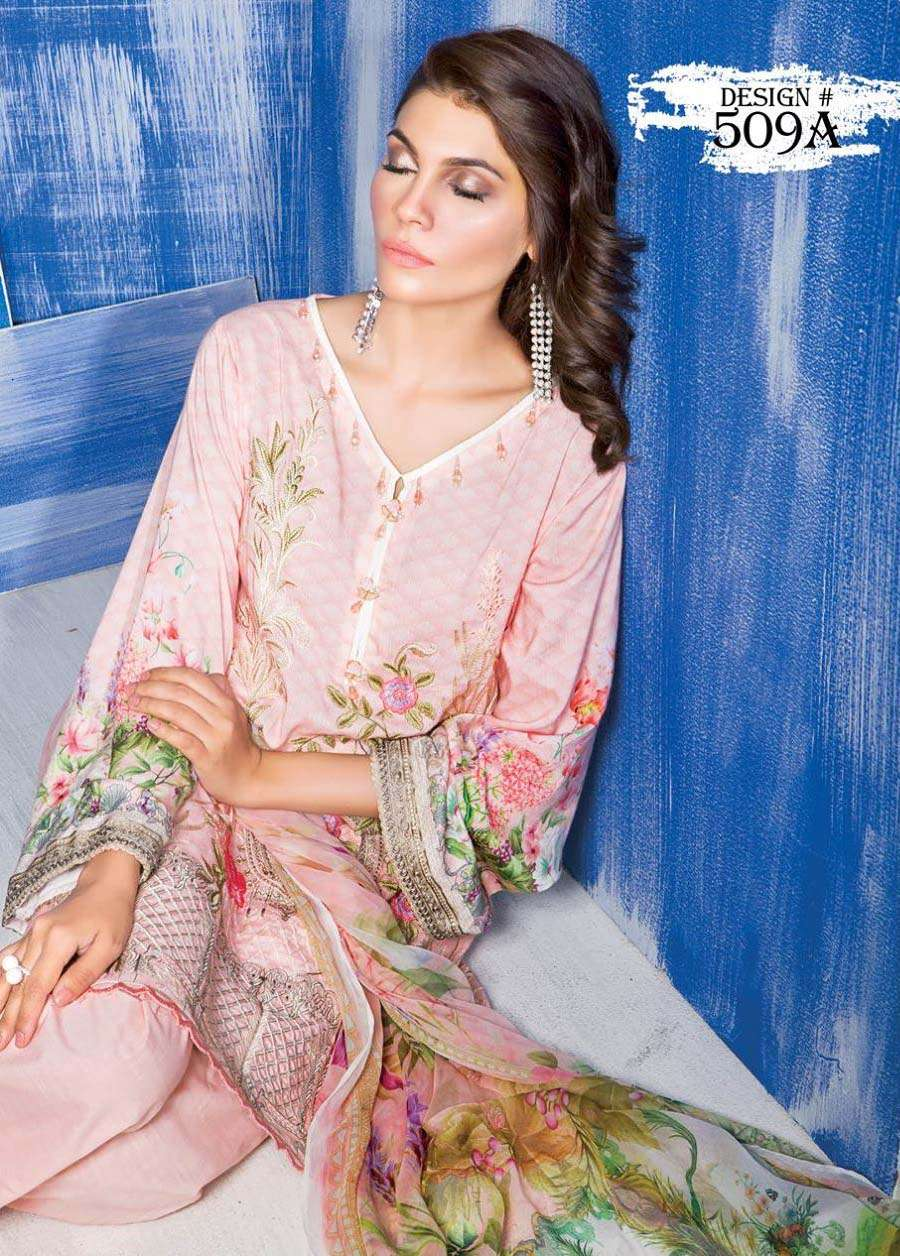 Rang Rasiya Embroidered Linen Unstitched 3 Piece Suit RGR17W 509A