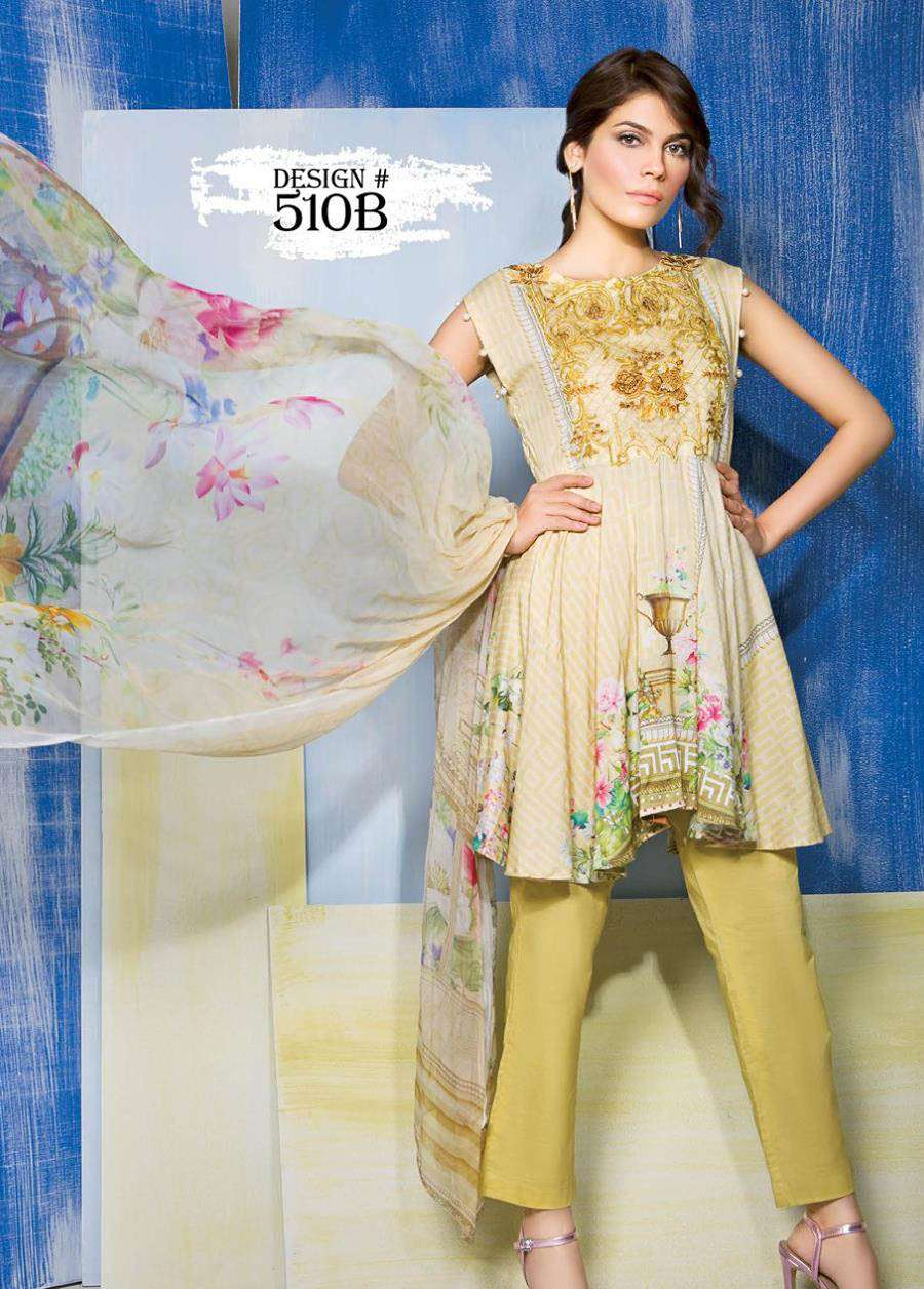 Rang Rasiya Embroidered Linen Unstitched 3 Piece Suit RGR17W 510B