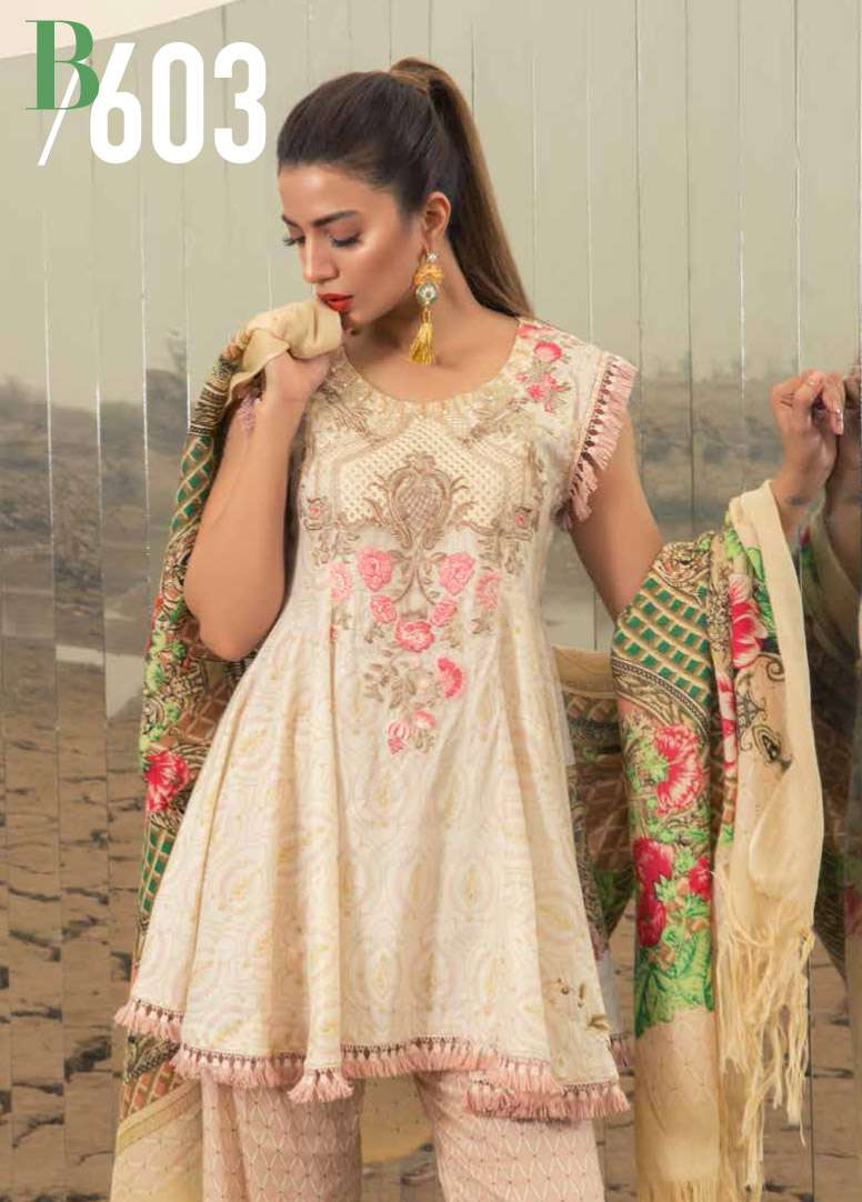 Rang Rasiya Embroidered Linen Unstitched 3 Piece Suit RGR17W2 603B