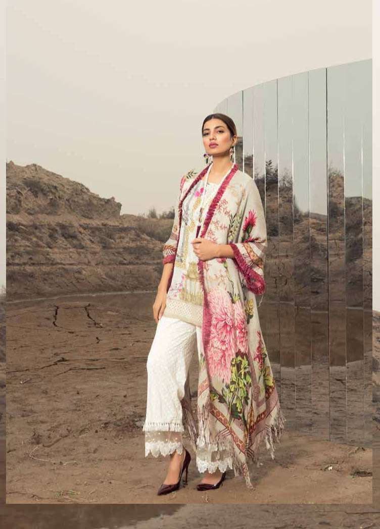 Rang Rasiya Embroidered Linen Unstitched 3 Piece Suit RGR17W2 606B
