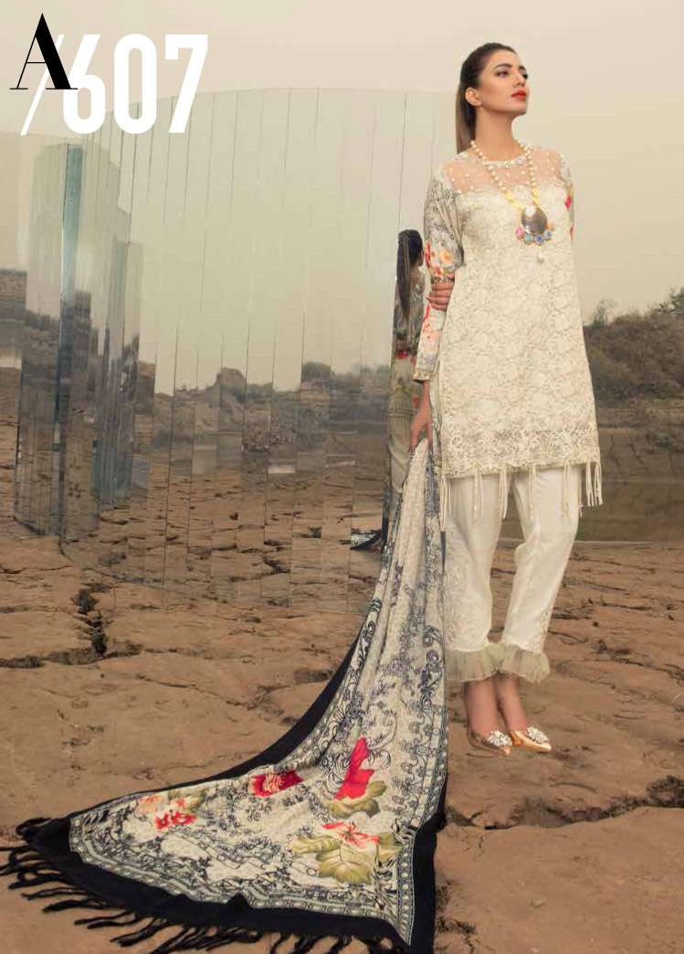 Rang Rasiya Embroidered Linen Unstitched 3 Piece Suit RGR17W2 607A