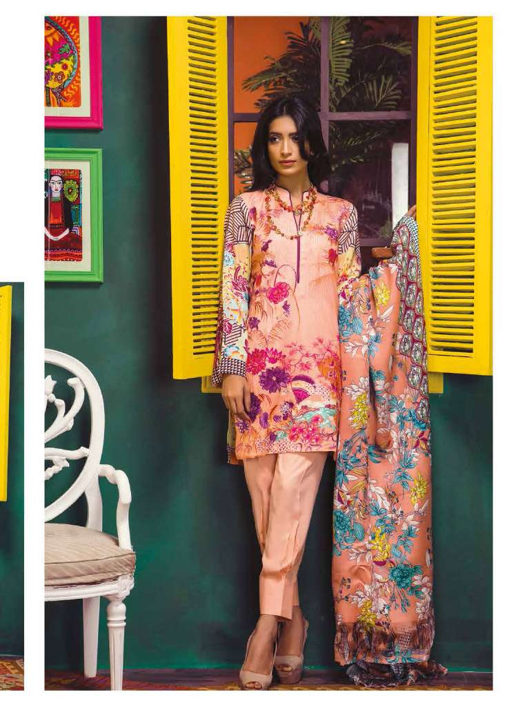 RajBari Embroidered Linen Unstitched 3 Piece Suit RJ17W 4B