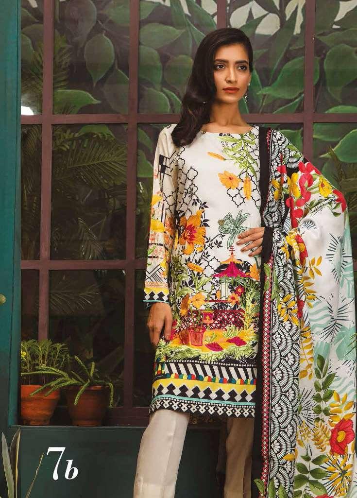 RajBari Embroidered Linen Unstitched 3 Piece Suit RJ17W 7B