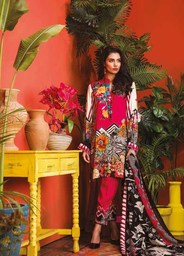 RajBari Embroidered Linen Unstitched 3 Piece Suit RJ17W 9B