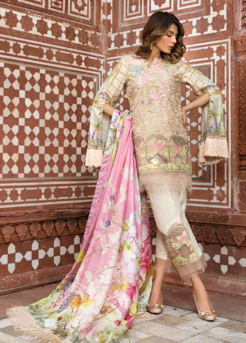 Rungrez Embroidered Organza Unstitched 3 Piece Suit RNG17E2 04