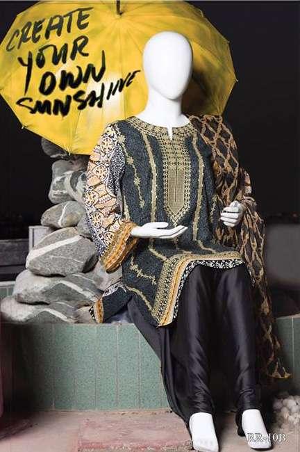 Rangoli Embroidered Lawn Unstitched 3 Piece Suit RRS17L 10B