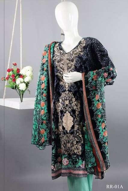 Rangoli Embroidered Lawn Unstitched 3 Piece Suit RRS17L 1A