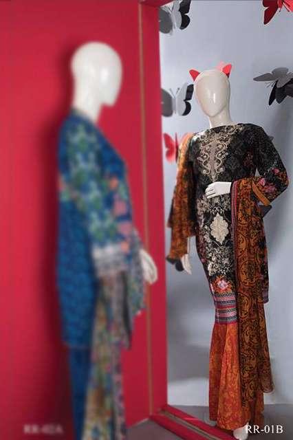 Rangoli Embroidered Lawn Unstitched 3 Piece Suit RRS17L 1B