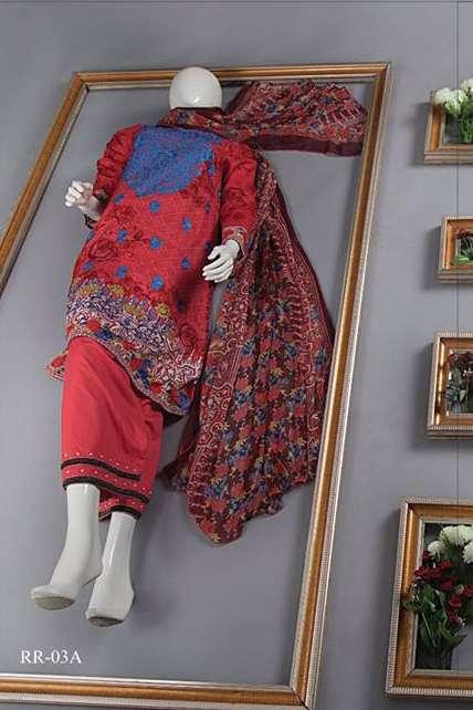 Rangoli Embroidered Lawn Unstitched 3 Piece Suit RRS17L 3A