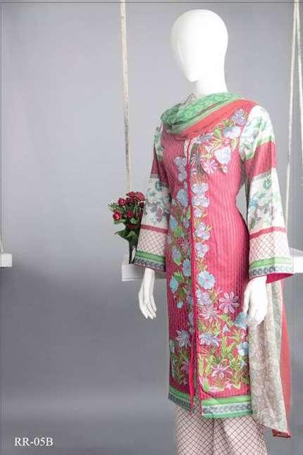 Rangoli Embroidered Lawn Unstitched 3 Piece Suit RRS17L 5B
