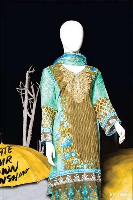 Rangoli Embroidered Lawn Unstitched 3 Piece Suit RRS17L 6B