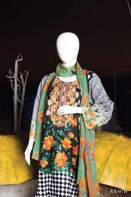 Rangoli Embroidered Lawn Unstitched 3 Piece Suit RRS17L 7A