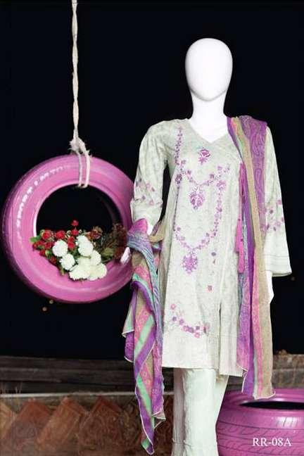 Rangoli Embroidered Lawn Unstitched 3 Piece Suit RRS17L 8A