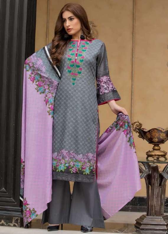 ZS Textile Printed Lawn Unstitched 3 Piece Suit RZS18L1 11A - Summer/Spring Collection