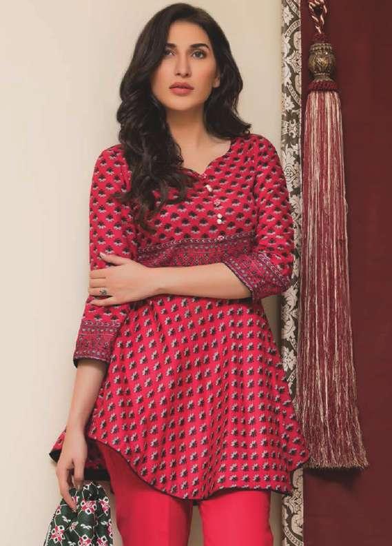 ZS Textile Printed Lawn Unstitched 3 Piece Suit RZS18L1 14A - Summer/Spring Collection