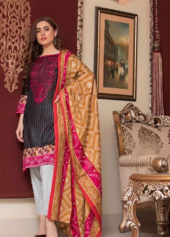 ZS Textile Printed Lawn Unstitched 3 Piece Suit RZS18L1 15A - Summer/Spring Collection
