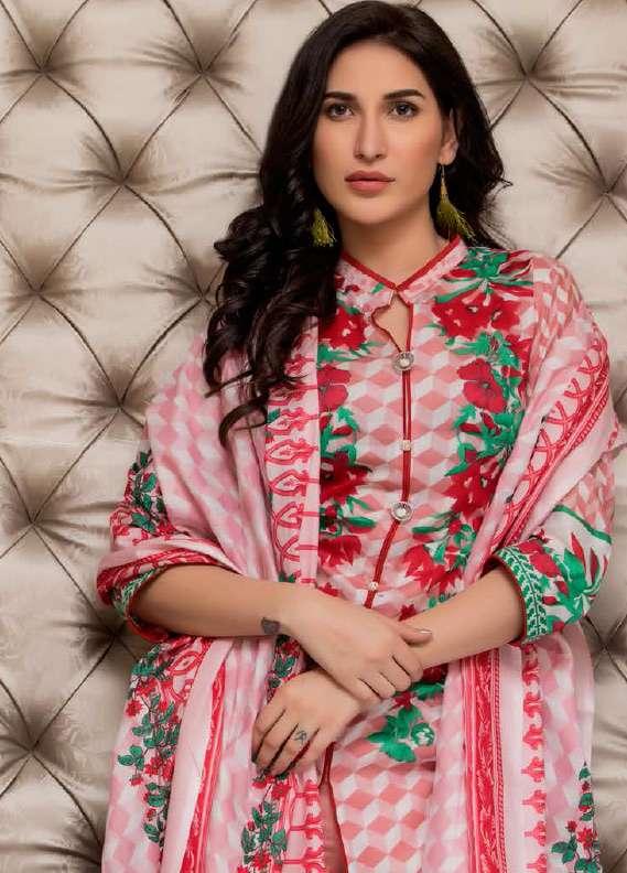 ZS Textile Printed Lawn Unstitched 3 Piece Suit RZS18L1 18A - Summer/Spring Collection