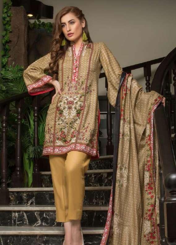 ZS Textile Printed Lawn Unstitched 3 Piece Suit RZS18L1 19A - Summer/Spring Collection
