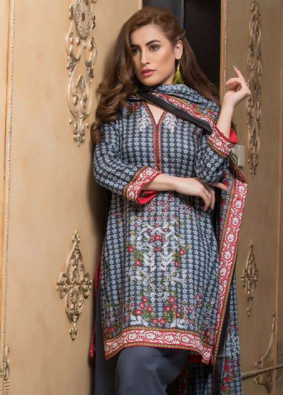 ZS Textile Printed Lawn Unstitched 3 Piece Suit RZS18L1 19B - Summer/Spring Collection