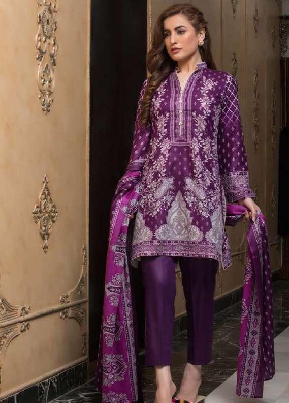 ZS Textile Printed Lawn Unstitched 3 Piece Suit RZS18L1 8A - Summer/Spring Collection